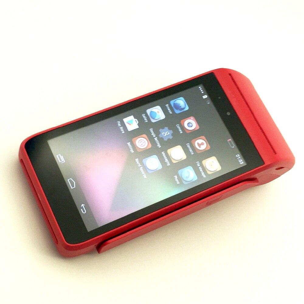 Бесплатная доставка Низкая цена, высокое качество Беспроводной мобильный Портативный Android pos-терминал банковской карты платежных карт ic Си...