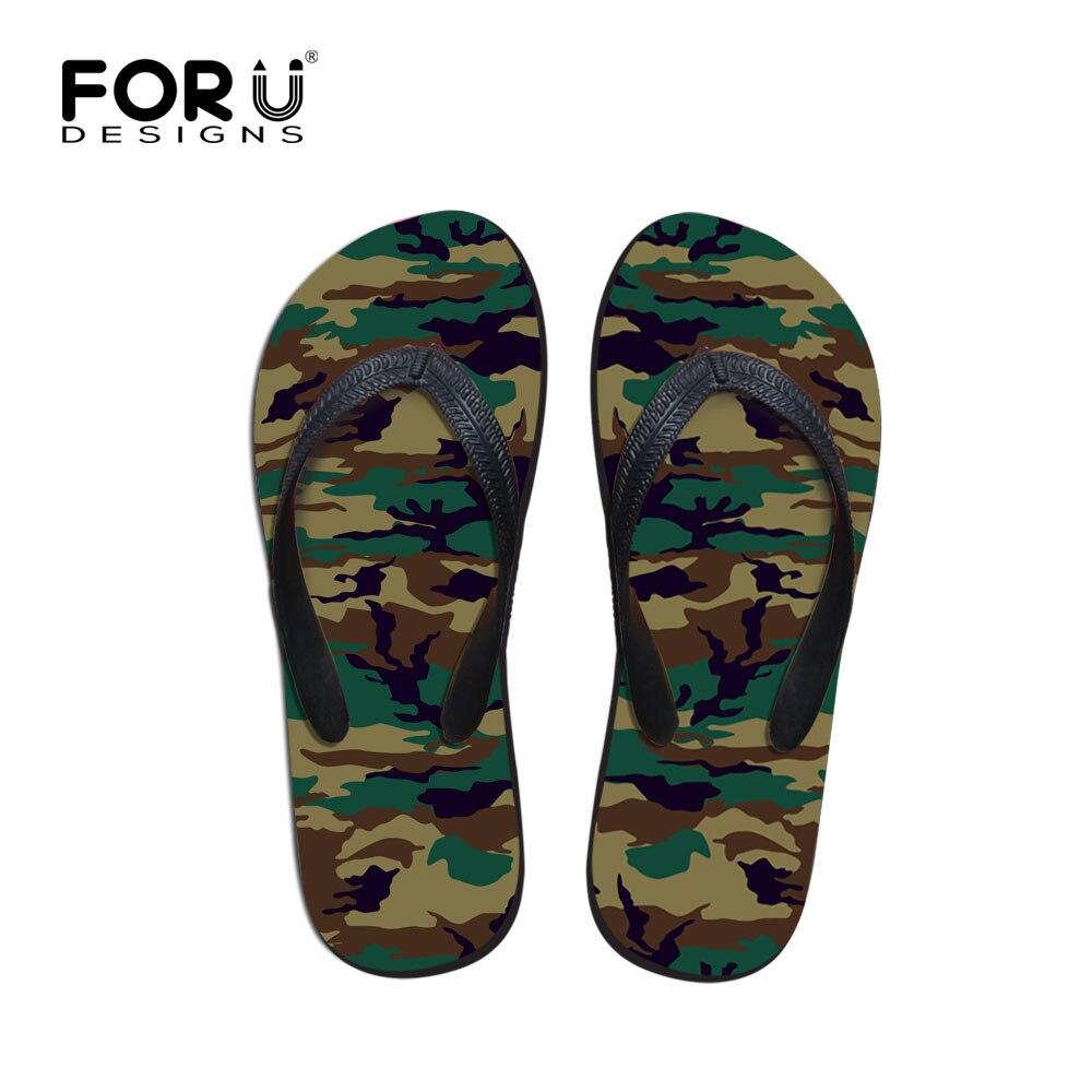 FORUDESIGNS Mens Chinese Slippers, Summer Eva Slippers for Men,Camouflage Print Flip Flops Male Beach Slipper Flat Shoes Men Сумка