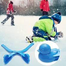 Дети инструмент для лепки снежков клип мультфильм утка снежок Making инструмент снеговик Снежный Песок Плесень игрушки Дети Открытый Спорт игрушечное оружие
