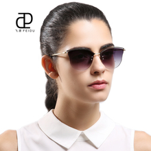 FEIDU 2017 New Metal Cat Eye Sunglasses Women Brand Designer Vintage Alloy Frame Sun Glasses For Women Oculos De Sol Feminino