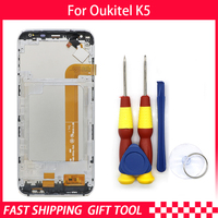 New original Touch Screen LCD Display For Oukitel K5 Digitizer Assembly With Frame Replacement Parts+Disassemble Tool