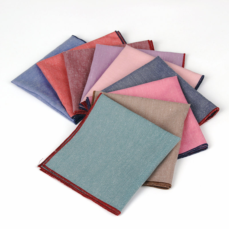100% Cotton Pocket Square 9 Colors Men's Handkerchief Chest Towel Prom Holiday Party