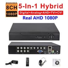 CCTV 8CH AHD 1080P DVR IP NVR TVI CVI Analog 5-IN-1 Hybrid HVR Surveillance HDMI 3G WIFI ONVIF P2P Mobile View Motion Detection