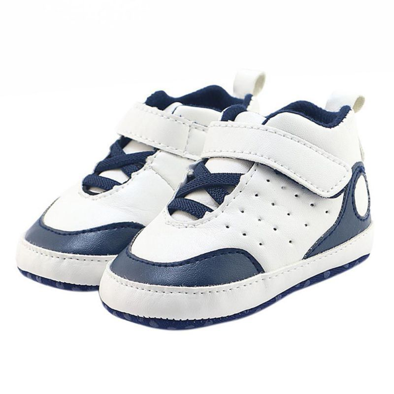 Baby Soft Bottom Sneakers Baby Boys Girls First Walkers PU Leather Baby Indoor Non-slip Toddler Shoes 0-18M