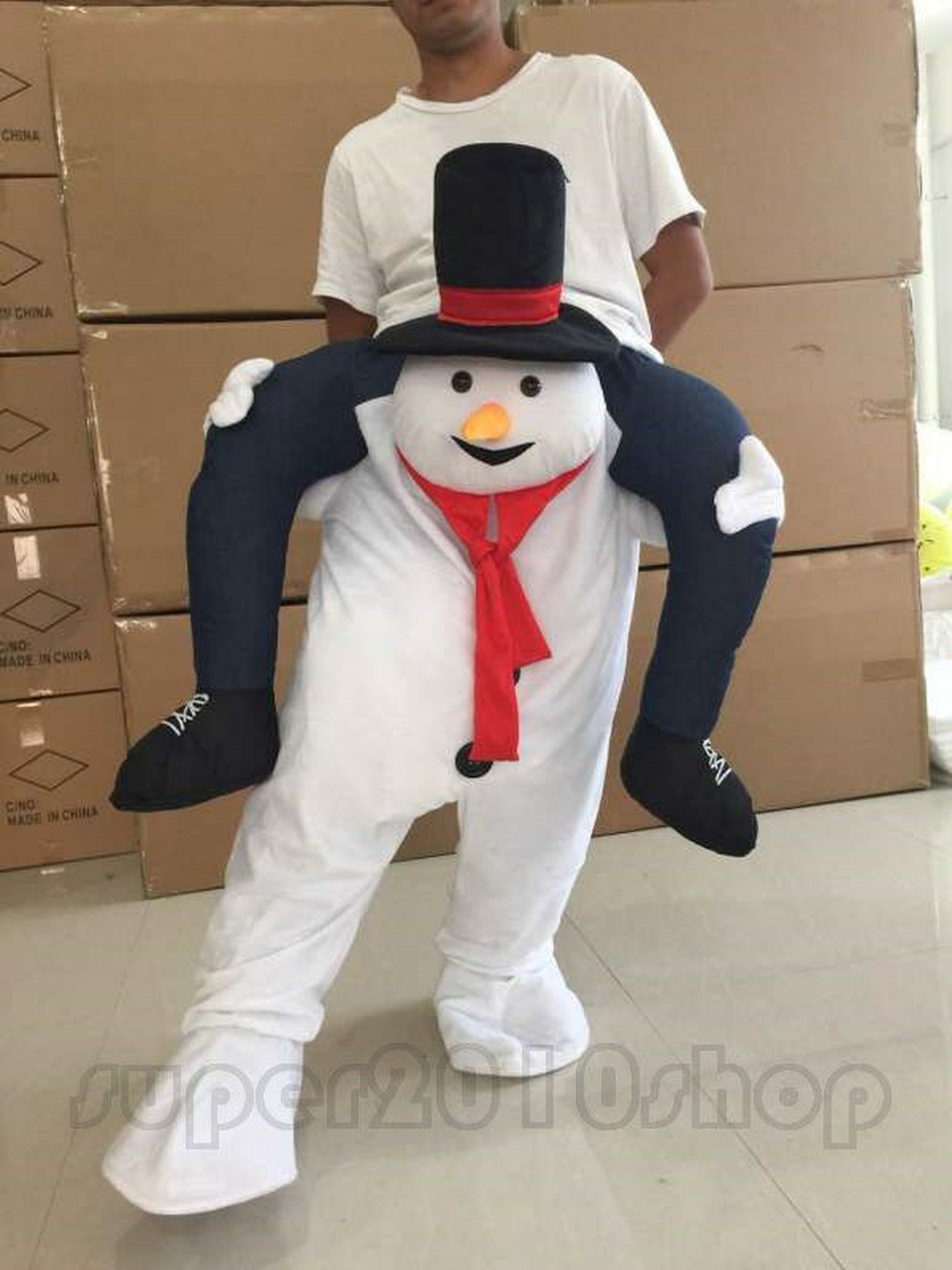 Olaf Snowman Mascot Costume Parade Suit Party Fancy Dress Christmas Outfit Adult