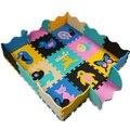 Venda quente 30*30 cm Puzzle Tapete Esteira Do Jogo Do Bebê Chão Puzzle tapete Crianças EVA Espuma Tapete De chão de Mosaico 9 pcs com 16 cerca