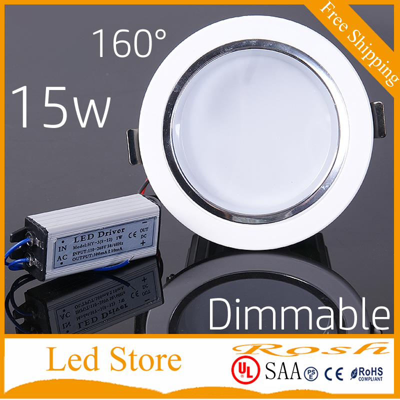 White Shell 15w Led Recessed Ceiling Lights Dimmable Led Downlights Indoor Lighting Ac90v-260v Warm Cold White 3 Years Warranty 100% Original Led Downlights Led Lighting