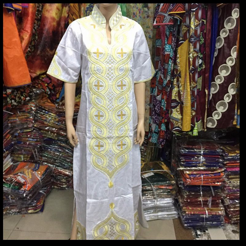 Artı Boyutu kadınlar için afrika giyim afrika Baskı Pamuk uzun - Ulusal Kıyafetler - Fotoğraf 3