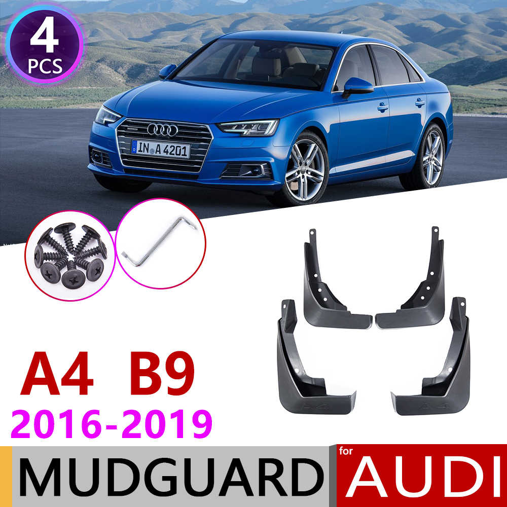 for Audi A4 B9 2016 2017 2018 2019 4 PCS Front Rear Car Mudflap Fender Mud Flaps Guard Splash Flap Mudguards Accessories