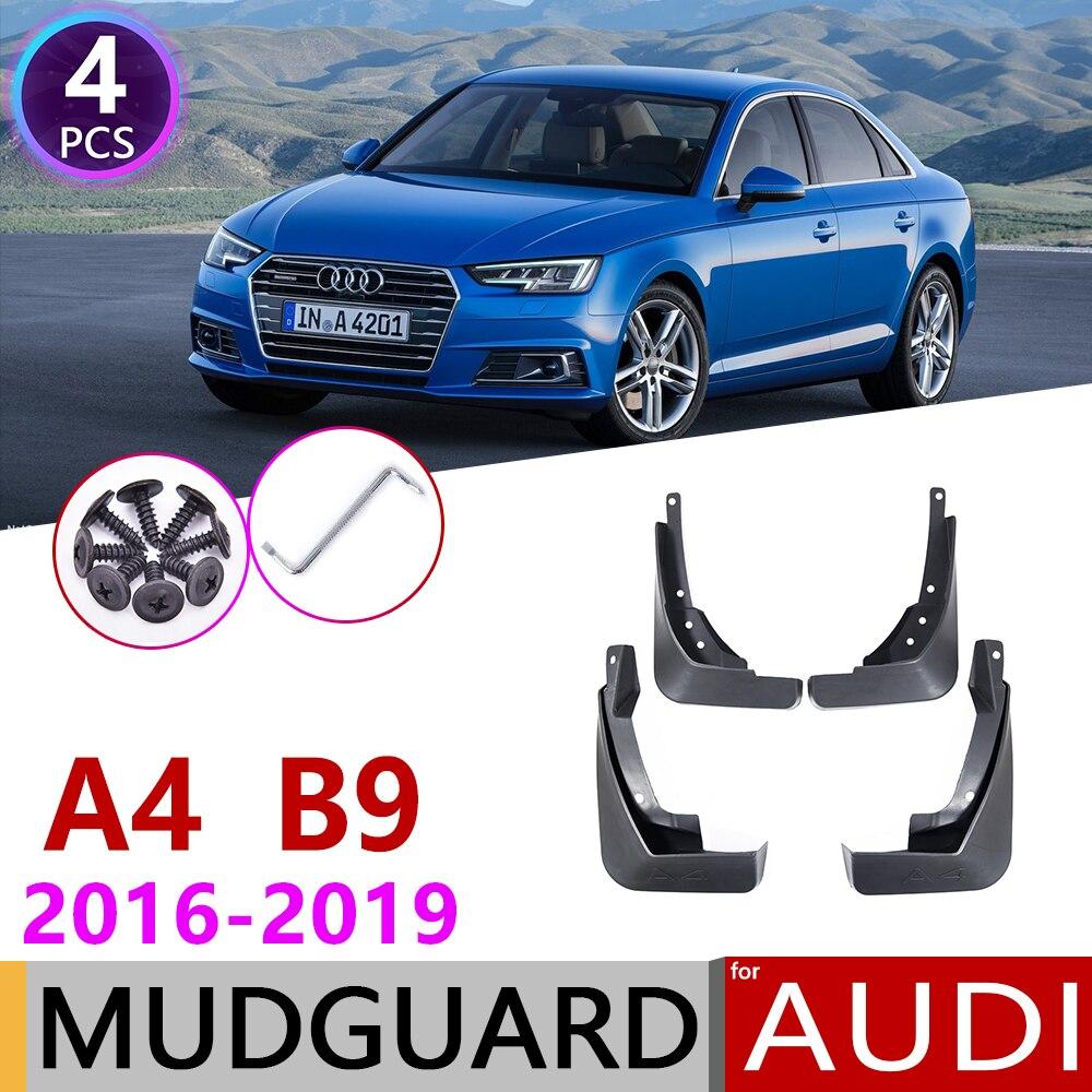 For Audi A4 B9 2016 2017 2018 2019 4 PCS Front Rear Car Mudflap Fender Mud Flaps Guard Splash Flap Mudguards Accessories