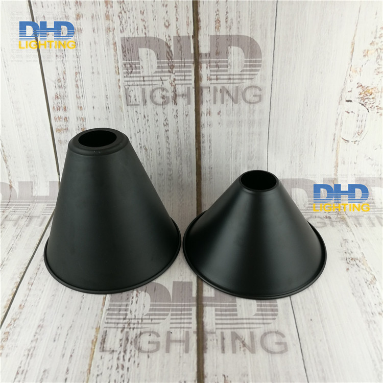 Free shipping 2 styles black finished iron lampshade hot selling vintage DIY lighting shade industrial retro