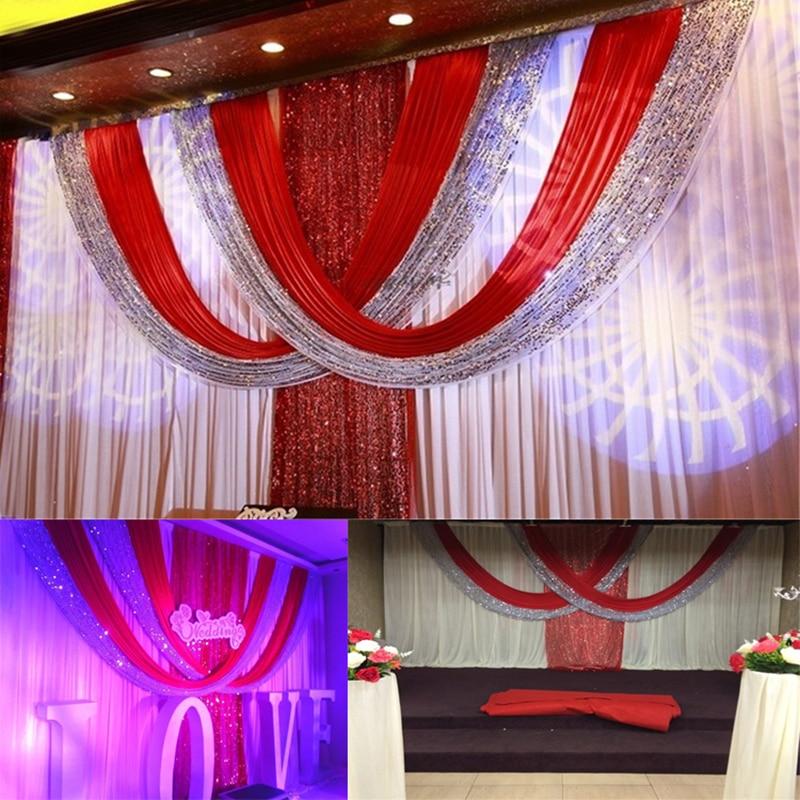 Luksuslik 3 * 6m valge ja punane jää Siidijääkidega pulmadeks - Pühad ja peod - Foto 1