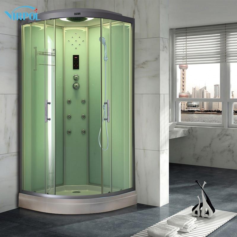 18 90cm White hydro Steam shower room cubicle enclosure bath Corner ...