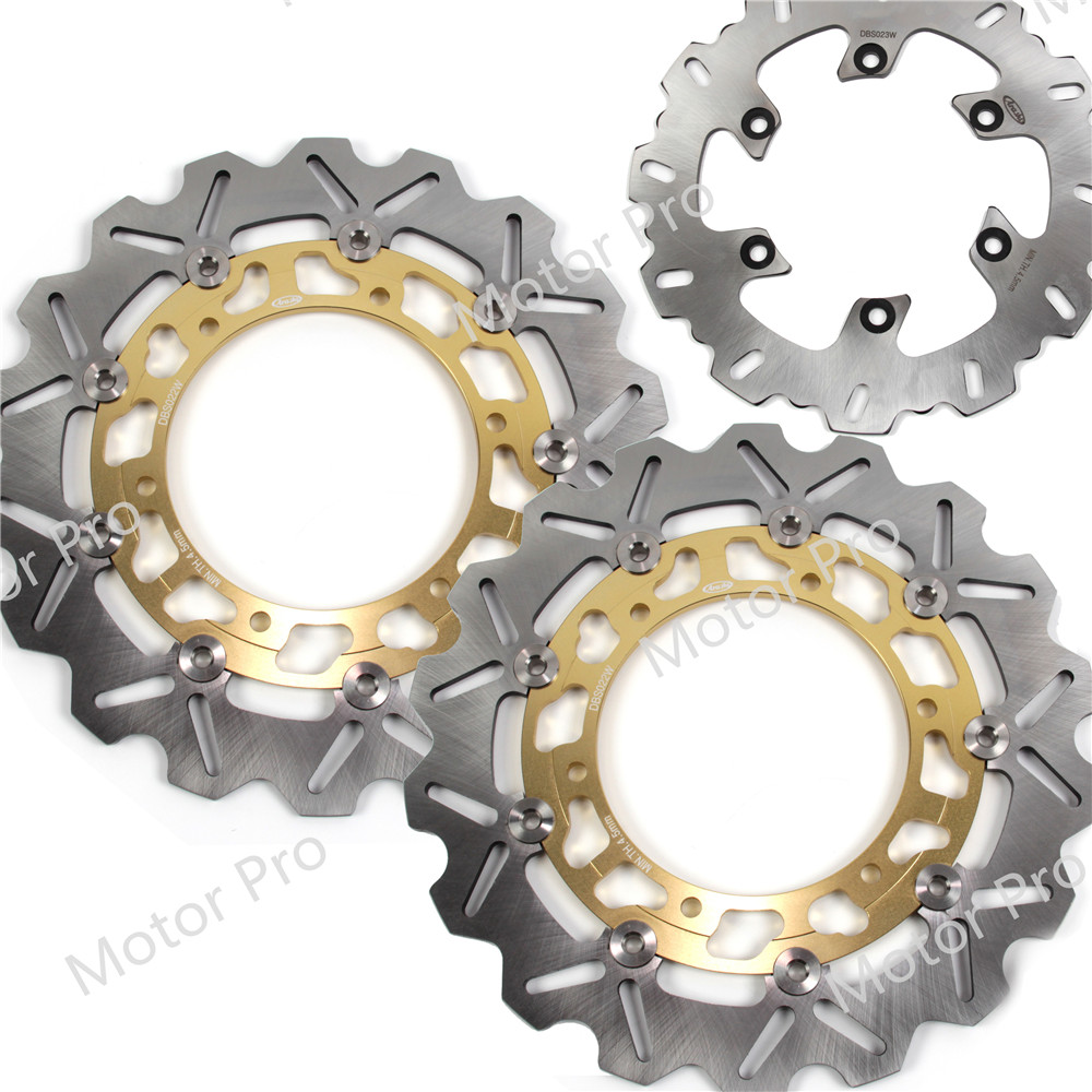 For Yamaha TDM 900 2002 2014 Front Rear Brake Disc Disk Rotor Kits TDM900 03 2004