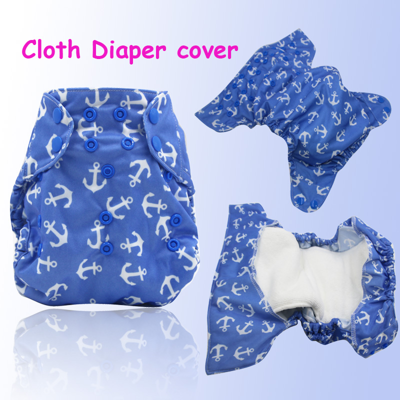 free shipping breathable pul printed baby OS diaper cover, size adjustable one size fits all cloth diaper covers 10 colors