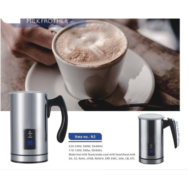 цена на New Stainless Steel Electric Milk Frother 220V Foamer Frothing Milk Warmer Foam Coffee Machine Latte Cappuccino Bubble Maker