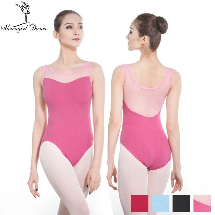 Honesty Teen Girls Sleeveless Glittery Printed Pattern Splice Ballet Dance Gymnastics Leotard Jumpsuit For Kids Costumes Tutu Bodysuit Novelty & Special Use Ballet