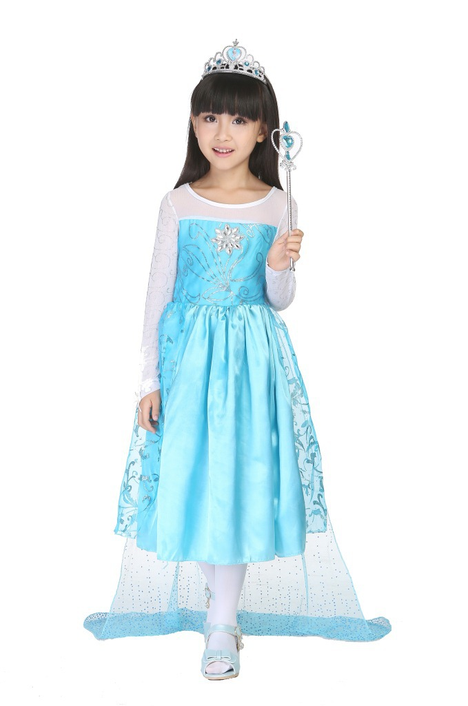 Halloween Christmas Costumes For kids Girls Cartoon Costumes Princess Queen Dress Fancy Dress For Disfraces Carnaval