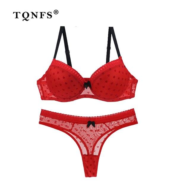 4b5895cbe8b TQNFS Sexy Thong Lady Push Up Bra Set Lace Bralette Underwear Bra And Panty  Set Intimates Black Red Women Bra Brief Set