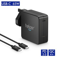 Quick Charger 4.0 USB C Wall Charger 65W Type C Power Delivery Fast Charger for Tinkpad X1 Lenovo Yoga Chromebook PD3.0&QC4+