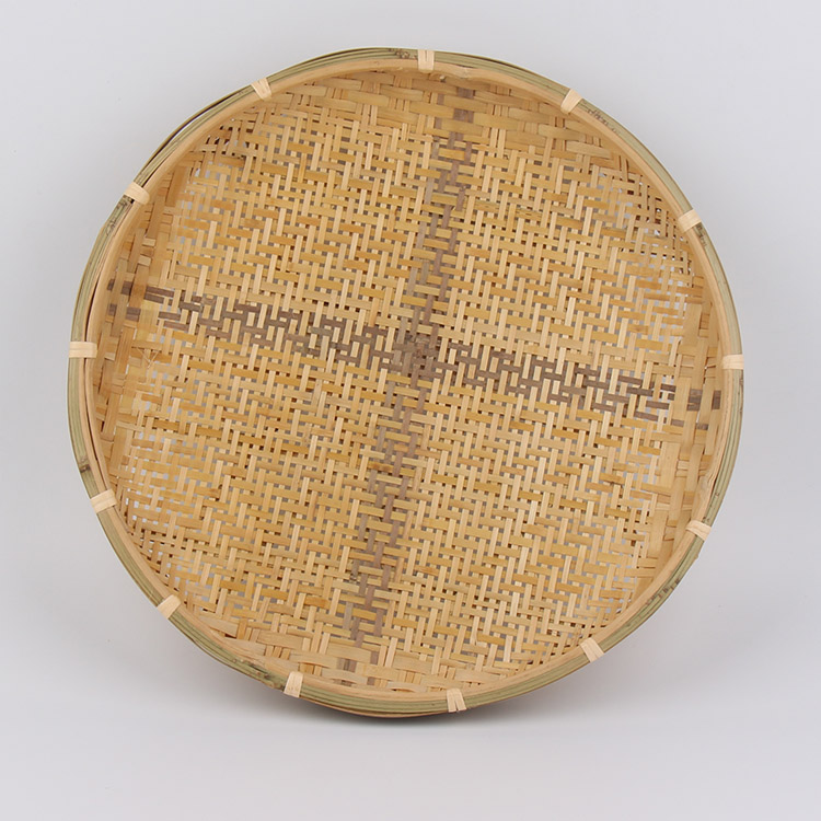 bamboo plate hand made bamboo weave sieve groceries
