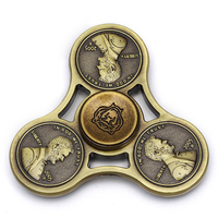 Retro Metal fidget spinner Cent Lasting rotation Low noise High Speed Fine craft hand spinner #MF52