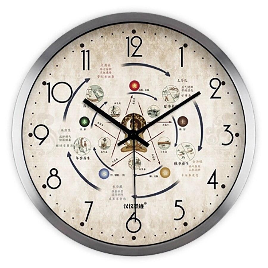 Muet Art créatif horloge murale moderne numérique Antique rétro grande cuisine Vintage montre horloge murale salon décoration 50A0176
