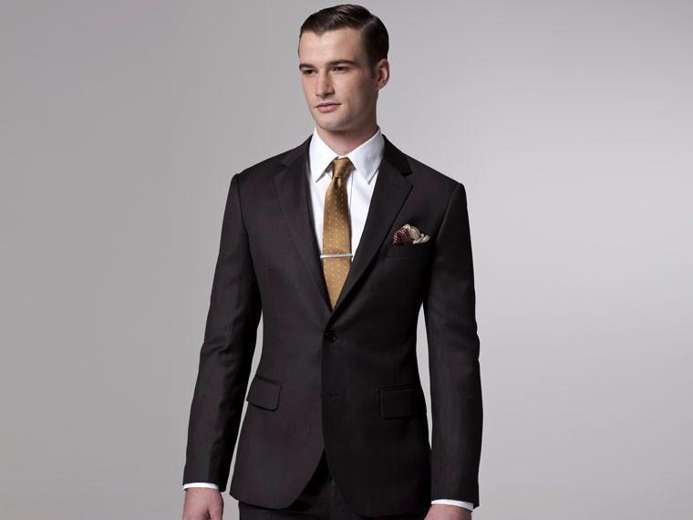 2019 New Arrival Side Vent Groom Tuxedos Notch Lapel Men's Suit Brown Groomsman Wedding/Dinner Suits (Jacket+Pants)