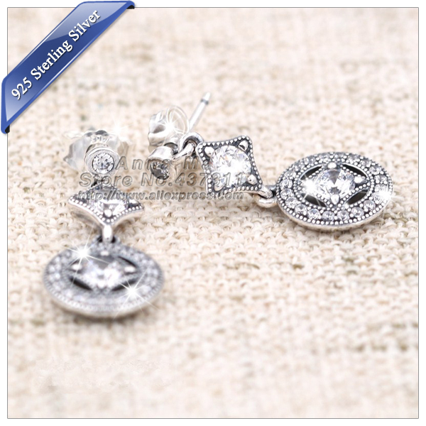 Fall NEW S925 Silver Earrings Alluring Brilliant Marquise With Clear CZ Jewellery Accessories Women Girls Gift