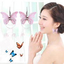 10pairs/lot Metal Butterfly Shape Short Earring For Women Costume Jewelry Accessories Party Wedding Eardrop Earrings