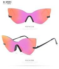 LVVKEE2017 Мода Cat Eye Солнцезащитные Очки Женщины Марка Мужчины Большой Кадр Нерегулярные Стимпанк Goggle Очки Óculos De Sol женщина для Gafas