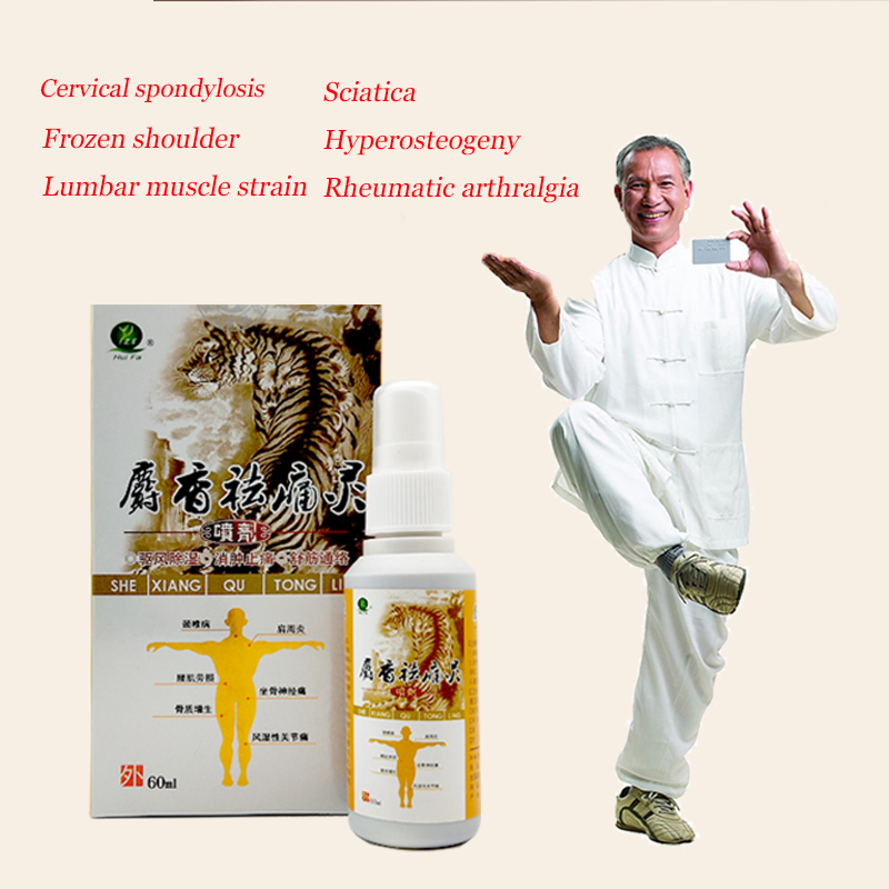 60ml Chinese Medicine Pain Relief Spray Rapid Relief From Rheumatic,Rheumatoid Arthritis,Joint Pain,Muscle Pain,Bruises,Swelling