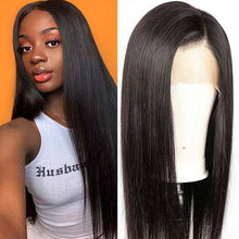 Peruvian Full Lace Wig Glueless Human Hair Wigs Straight Full Lace Closure Wigs With Baby Hair For Women Remy 8 To 26 inch Lwigs(China)