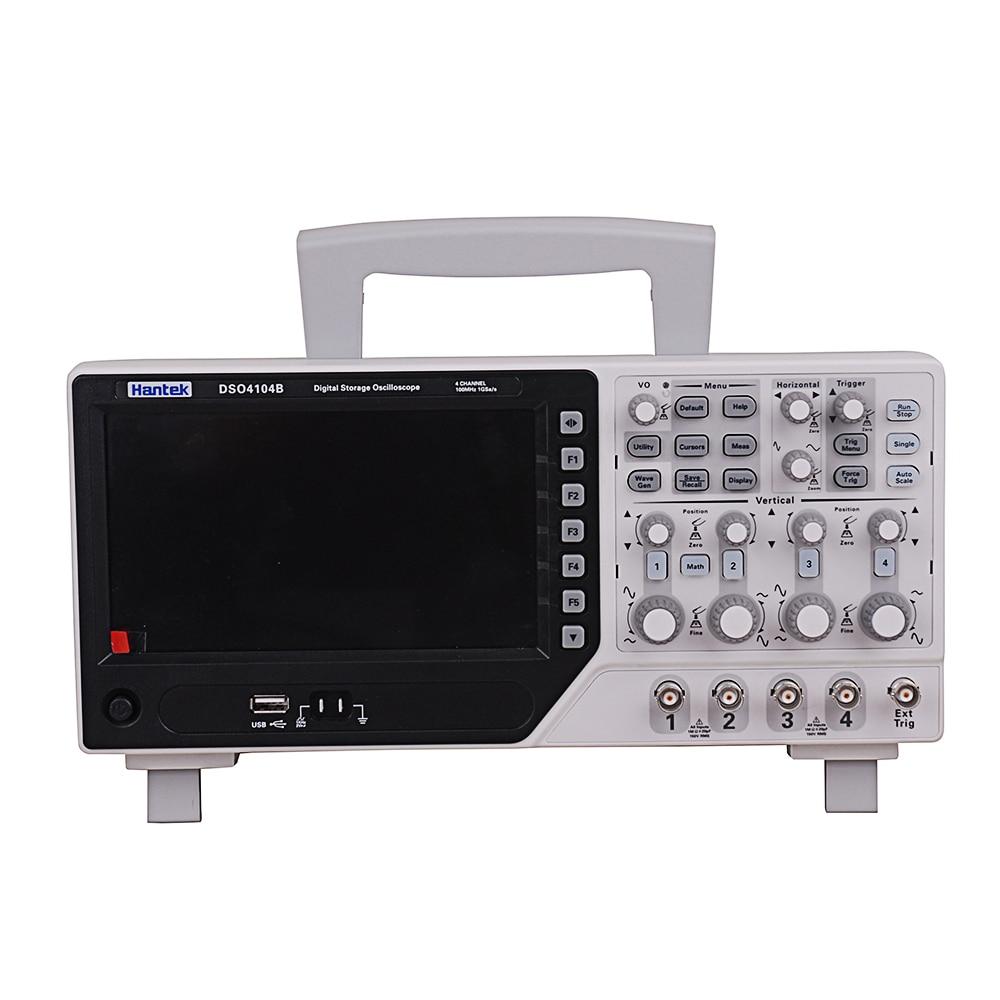 Hantek DSO4104B 100MHz 1GS s 4CH Oscilloscope EXT DVM USB PC LCD Auto Range Function Generator