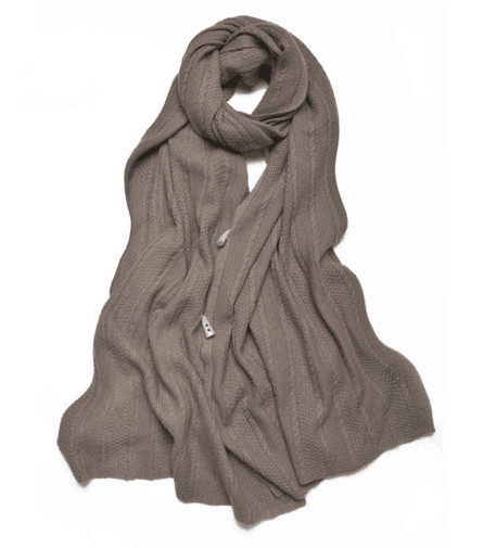 100% Cashmere Winter Solid Warm Scarf Button Large Soft Shawl