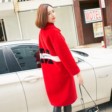 6972 European and American New Fashion Women Winter coat embroidery women s fur coat sheared sheep