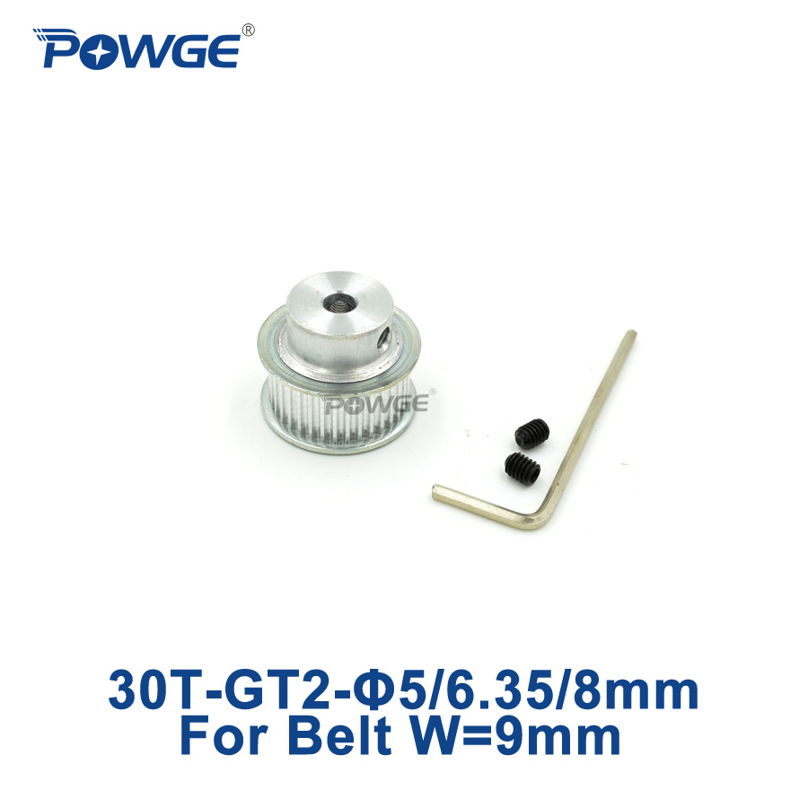 Powge 30 Teeth Gt2 Synchronous Pulley Bore 5mm 635mm 8mm For Width Timing Belt Pitch Diameter 9mm Open Small Backlash 2gt 30t 30teeth 1pcs In Pulleys From Home