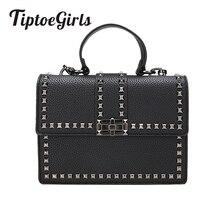 2018 Брендовые женские сумки роскошные сумки женские сумки-мессенджеры с заклепками сумка для девочек модная сумка на плечо женская PU кожаные сумочки