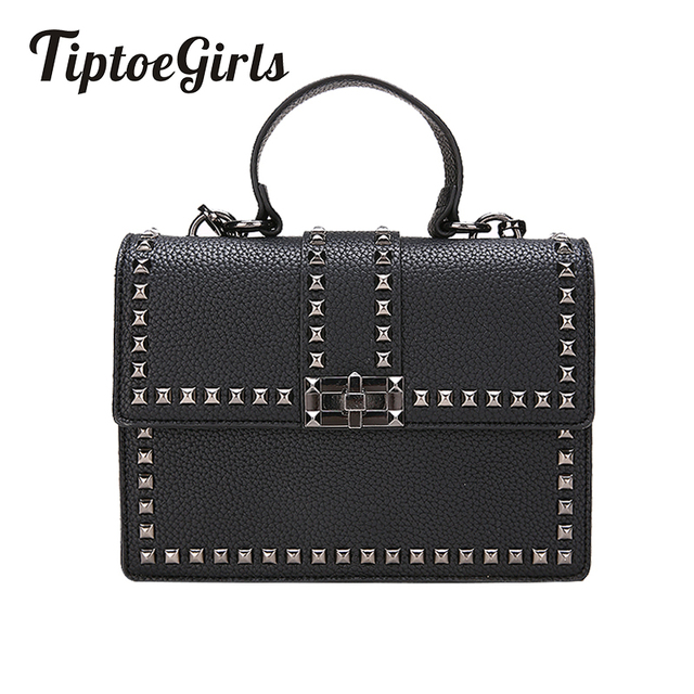 2018 Brand Women Bags Luxury Handbags Women Messenger Bags Cover Rivet Bag Girls Fashion Shoulder Bag Ladies PU Leather Handbags