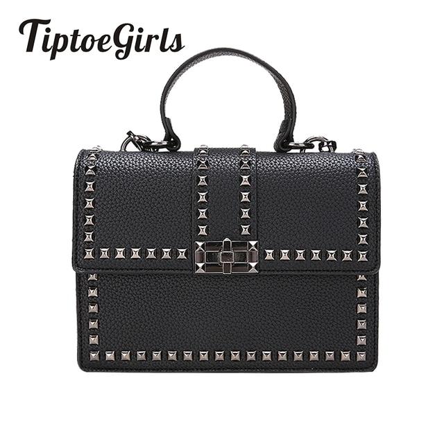 036a31acdfb Luxury Handbags Women Messenger Bags Cover Rivet Bag Girls Fashion Shoulder  Bag Ladies PU Leather Handbags
