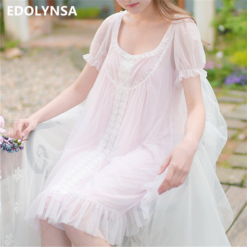 Summer Nighties For Women Baby Doll Dress Femme Lingerie Sleepwear Size Plus Night Wear Set Kawaii Nightgown Nightdress T174