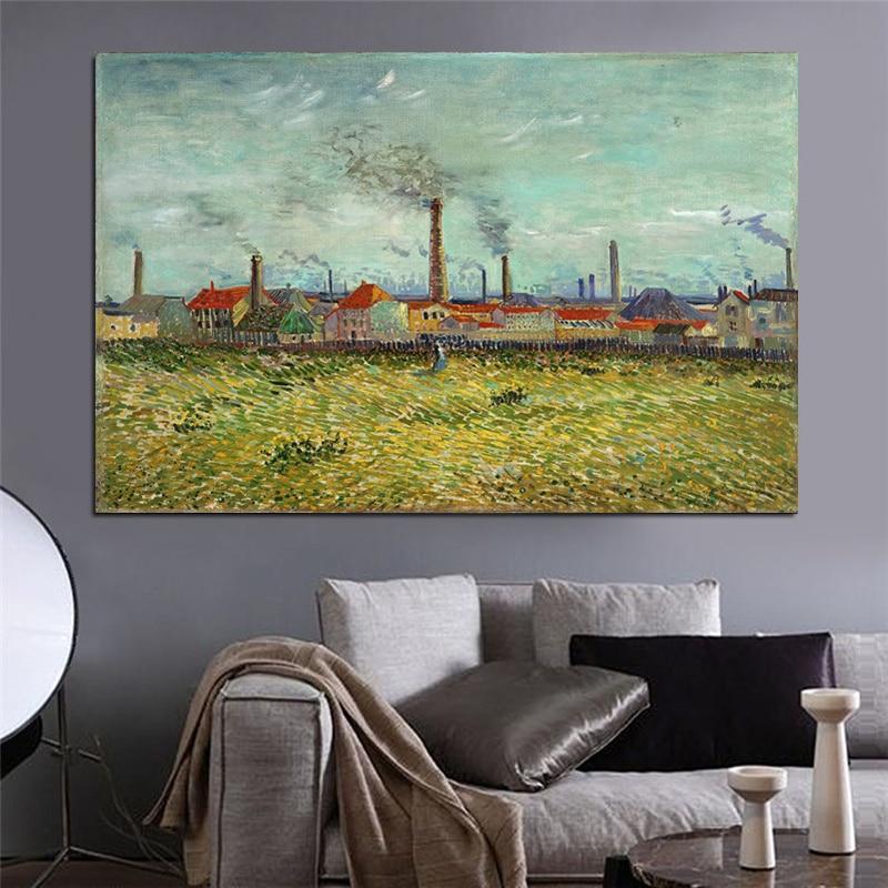 Pinturas de Van Gogh Impressões em Tela Impressionista Paisagem Wall - Decoração de casa - Foto 4