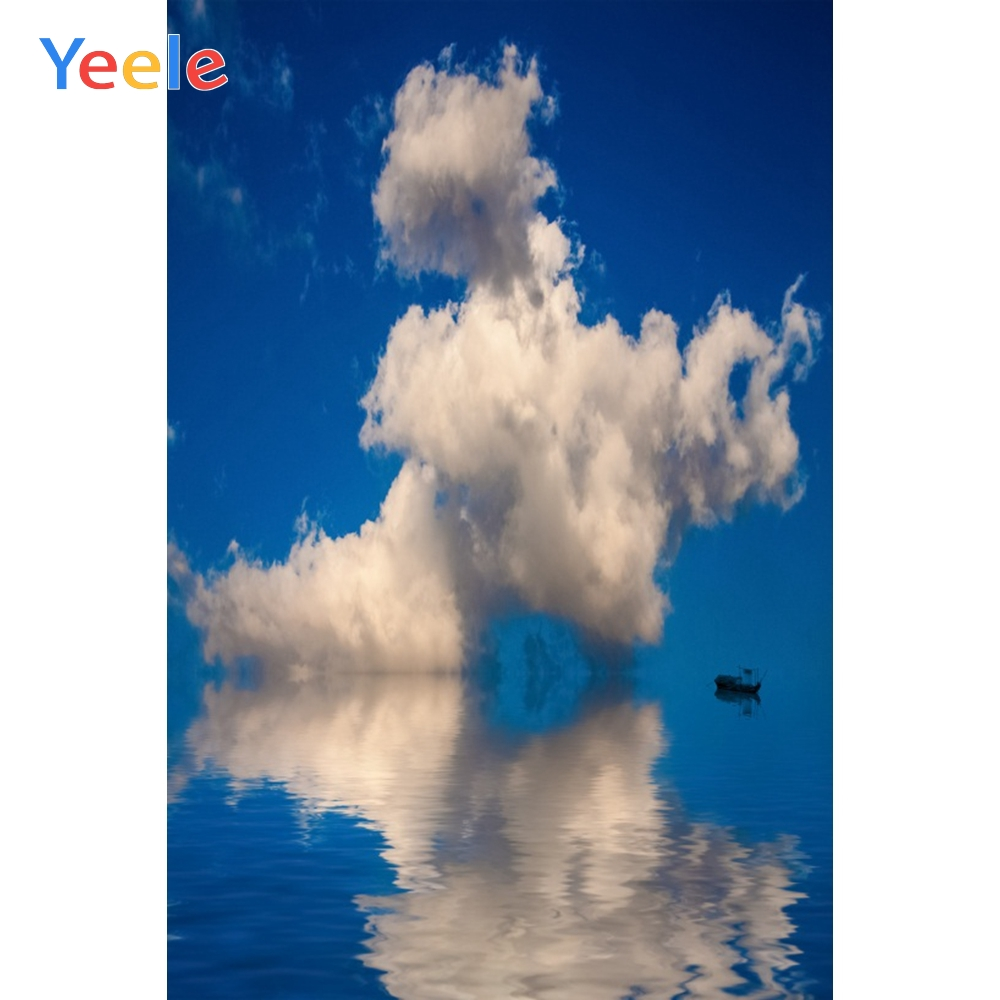 Yeele Landscape River Boat Photocall Clouds Beauty Photography Backdrops Personalized Photographic Backgrounds For Photo Studio