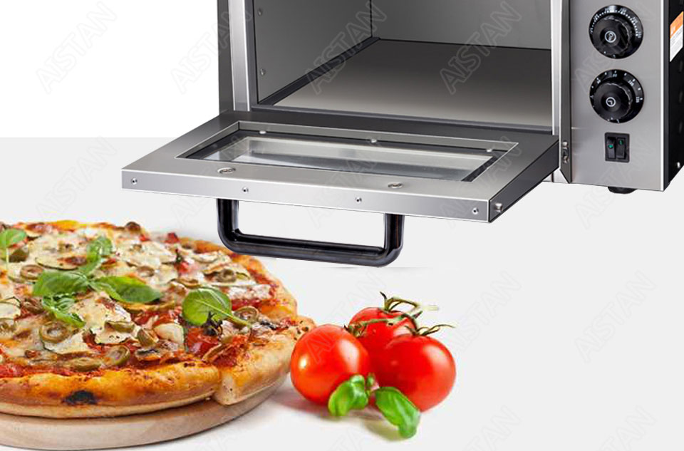 EP1AT electric stainless steel single layer higher chamber pizza oven with timer for baking bread, cake, pizza 7