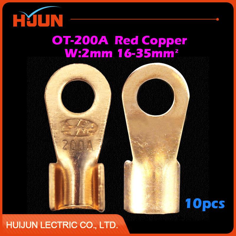 10pcs/lot OT 3A Dia Red Copper Circular Splice Crimp