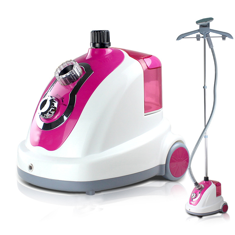 Professional Home Hanging For Ironing Cleaning Clothes Pink Garment Steamer