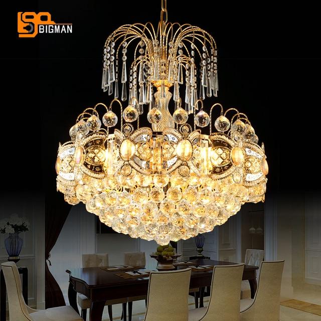 Lovely Neue Artikel European Style Kristall Anhänger Kronleuchter Lampen Für  Wohnzimmer Gold Leuchten Ideas