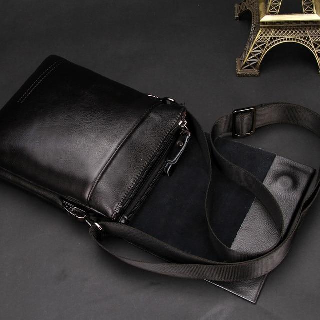 Leather Men Bag Casual Business genuine Leather Mens Messenger Bag Vintage Men's Crossbody Bag male 2