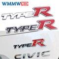 Металлическая Автомобильная 3D наклейка, автомобильный значок, наклейка с эмблемой для Honda CIVIC Тип R, логотип FD2 FD FA 5 Mugen Тип R, аксессуары для ст...