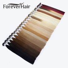 "FOREVER HAIR Nano Ring Hair 100% Remy Human Hair Extensions 0.8g/s 16"" 18"" 20"" Platinum Blonde European Micro Beads 50 Pieces(China)"
